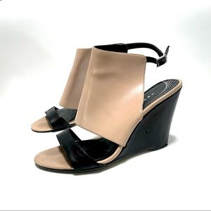 Trouve. Leather covered Wedge heels